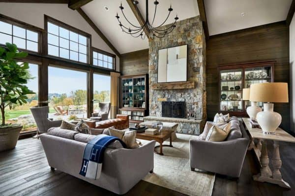 featured posts image for Contemporary rustic farmhouse with stunning living spaces in rural Oregon