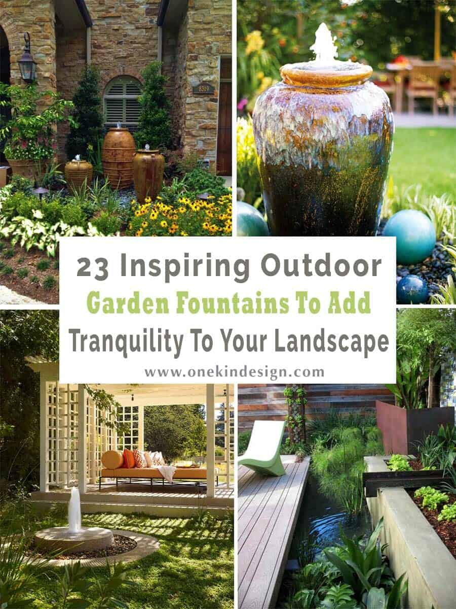 23 Inspiring Outdoor Garden Fountains