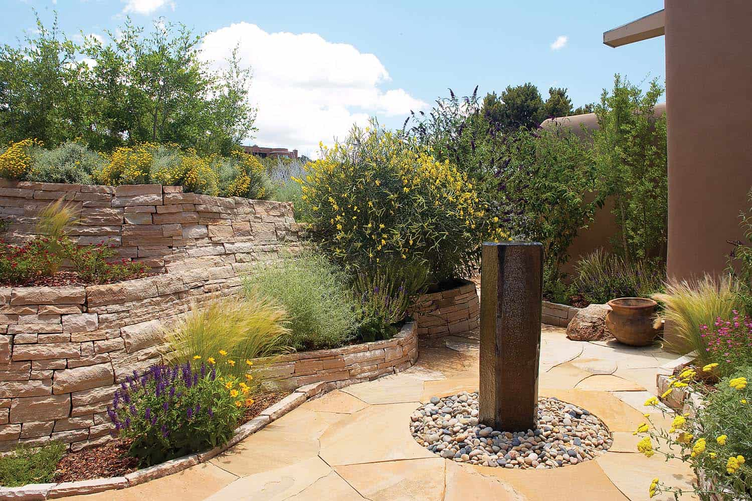 Outdoor Garden Fountain Idea