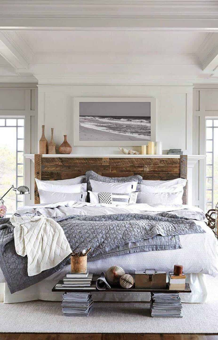 The Bedding Is From Lexington Clothing Co As Area Rug White Walls Makes This E Feel Bright And Airy Paint Color