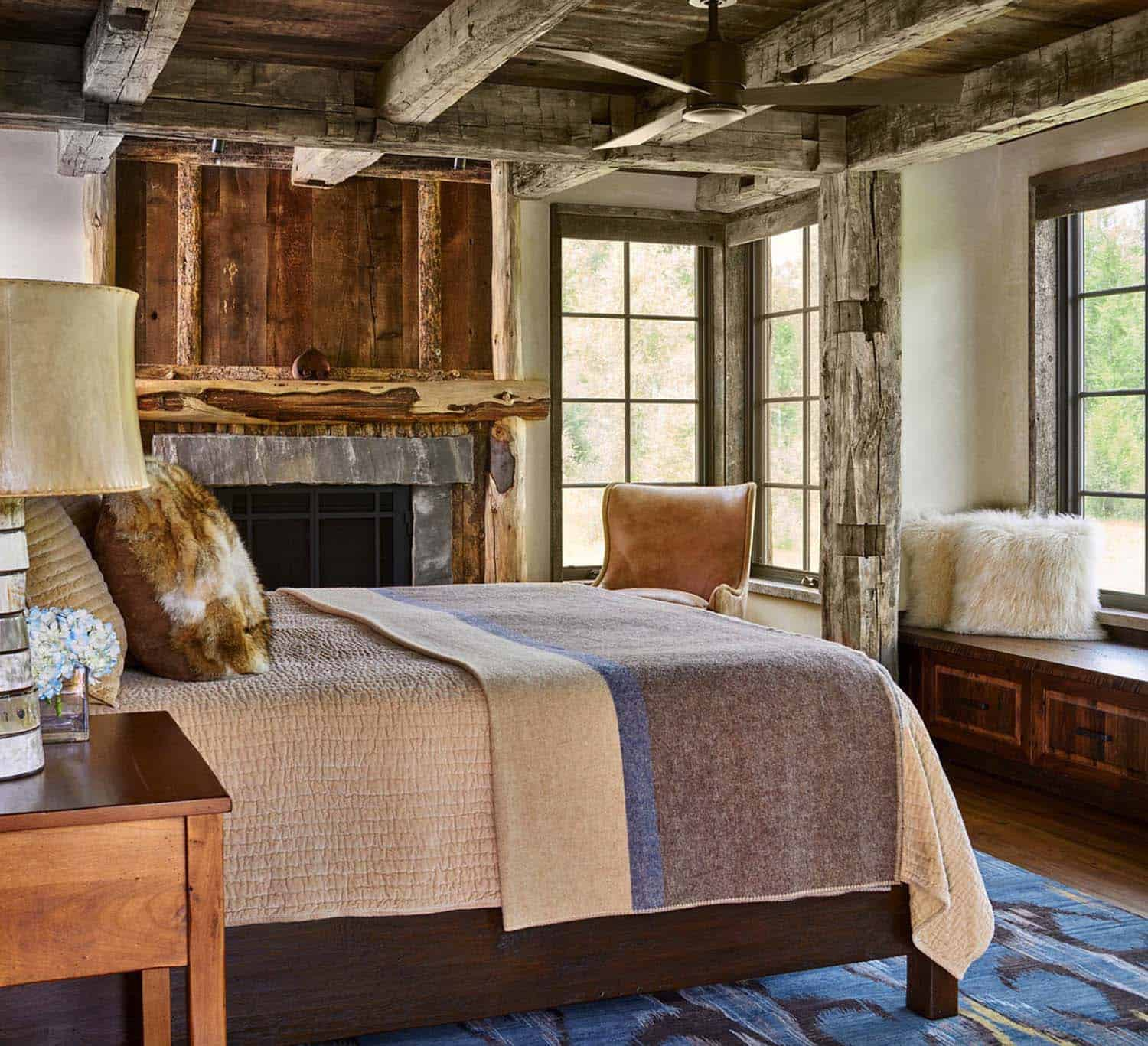 Modern Classic And Rustic Bedrooms: Modern-rustic Log Cabin Preserves Historic Charm In