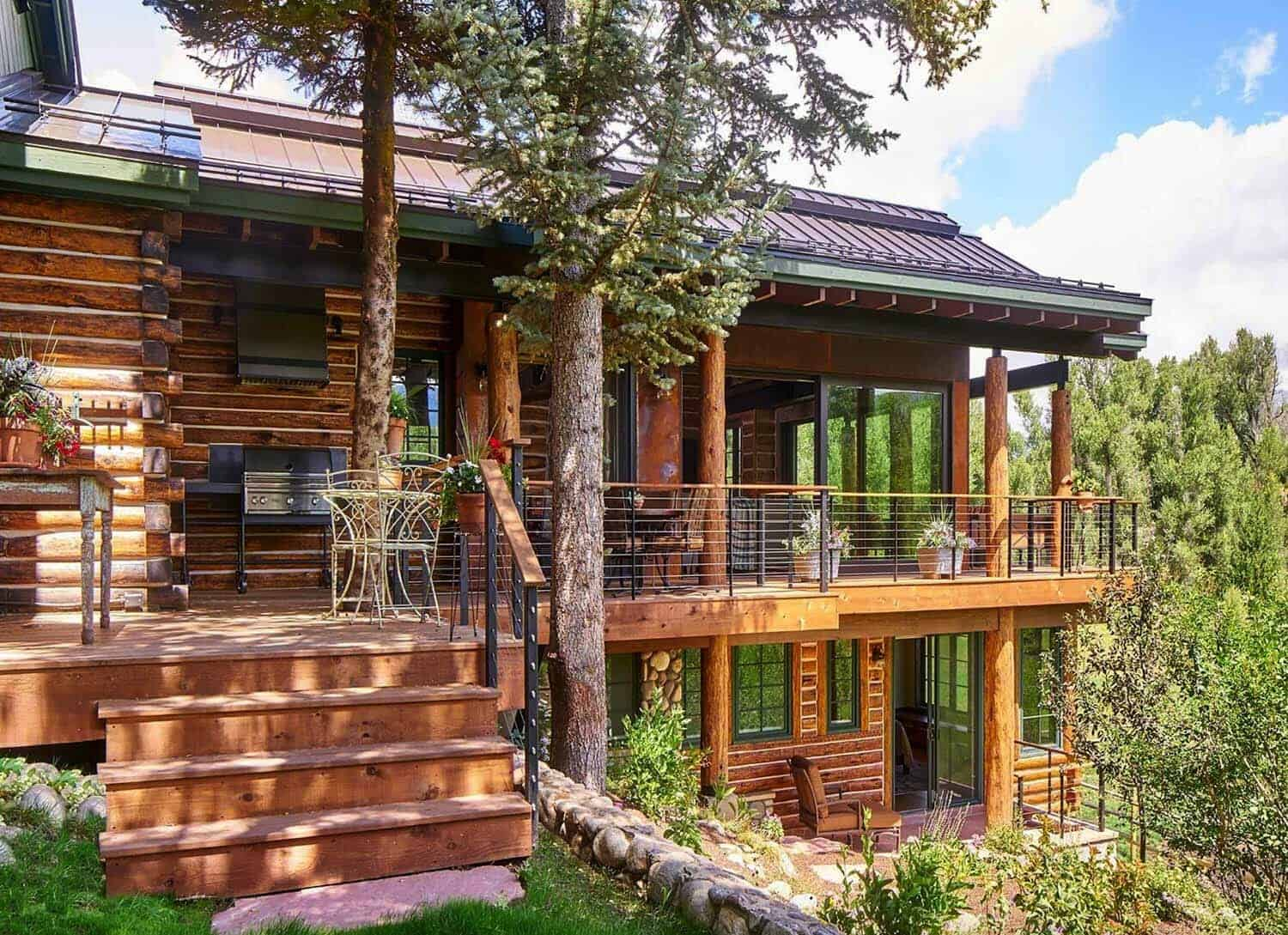Modern Rustic Log Cabin Preserves Historic Charm In Steamboat Springs