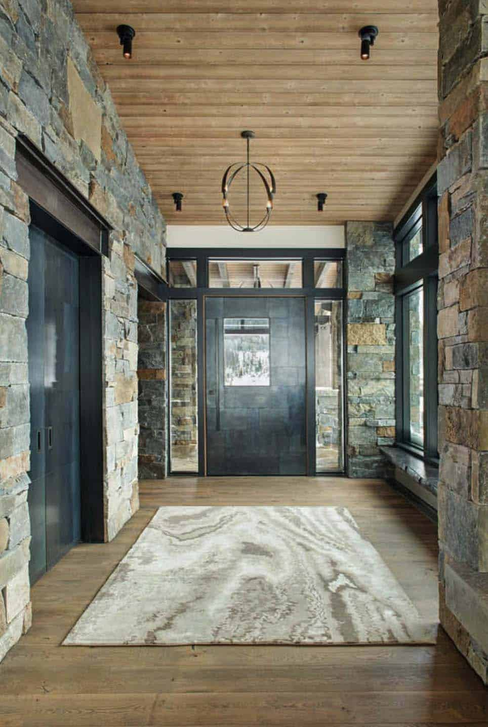 modern-rustic entry