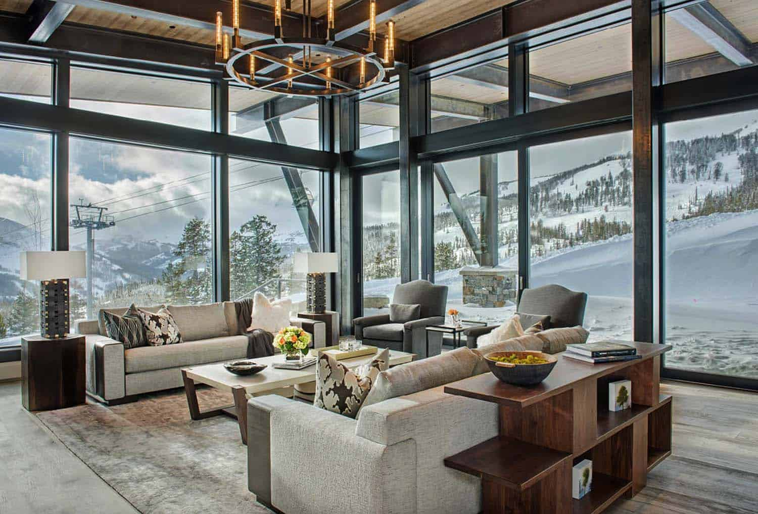 Modern-rustic mountain home with spectacular views in Big Sky country