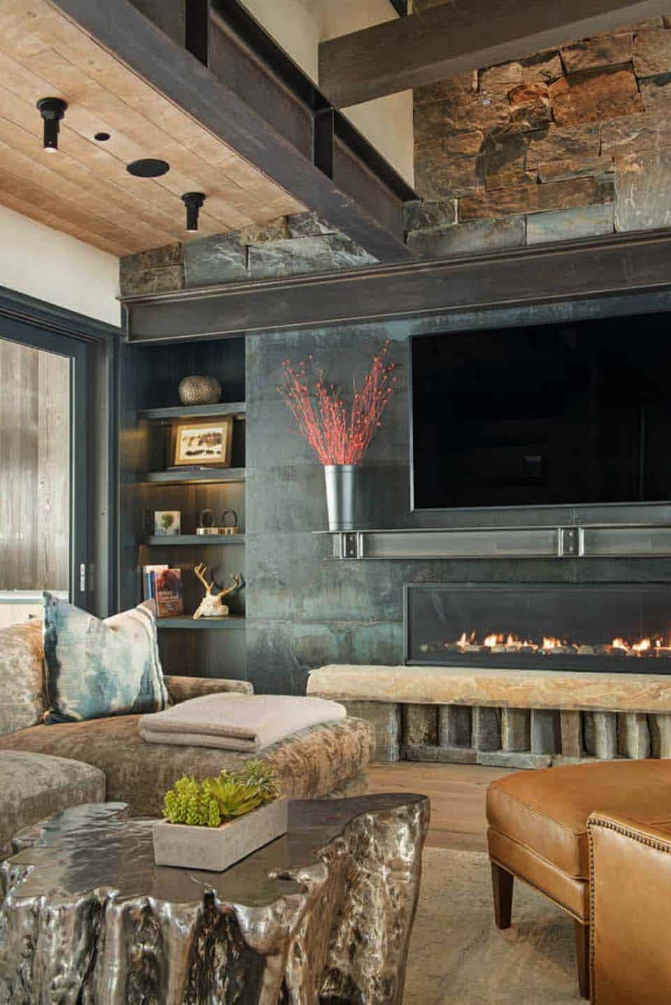 modern-rustic family room