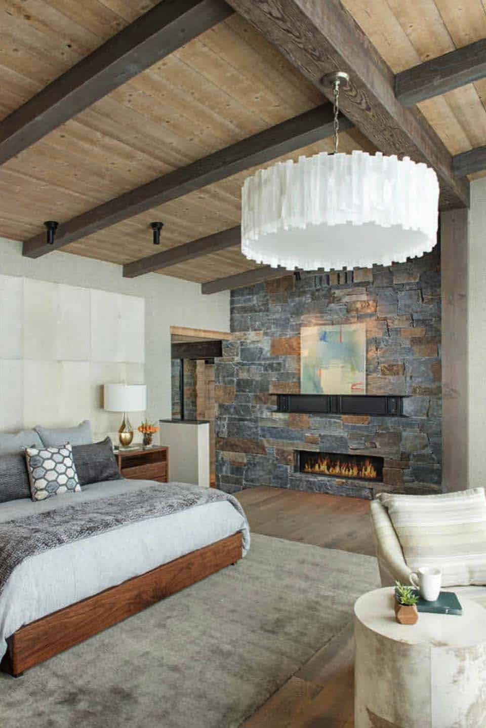 modern-rustic bedroom