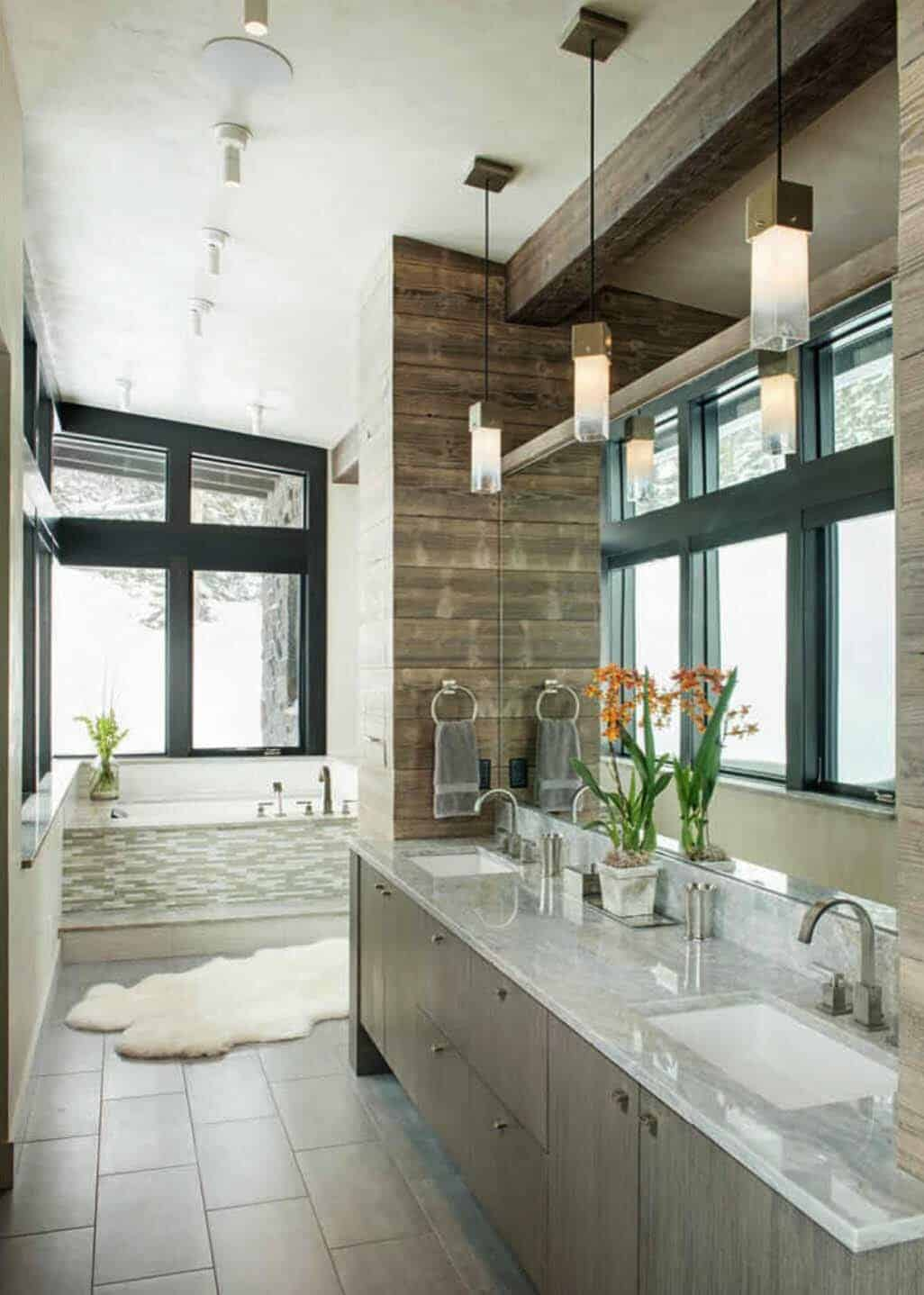 modern-rustic bathroom