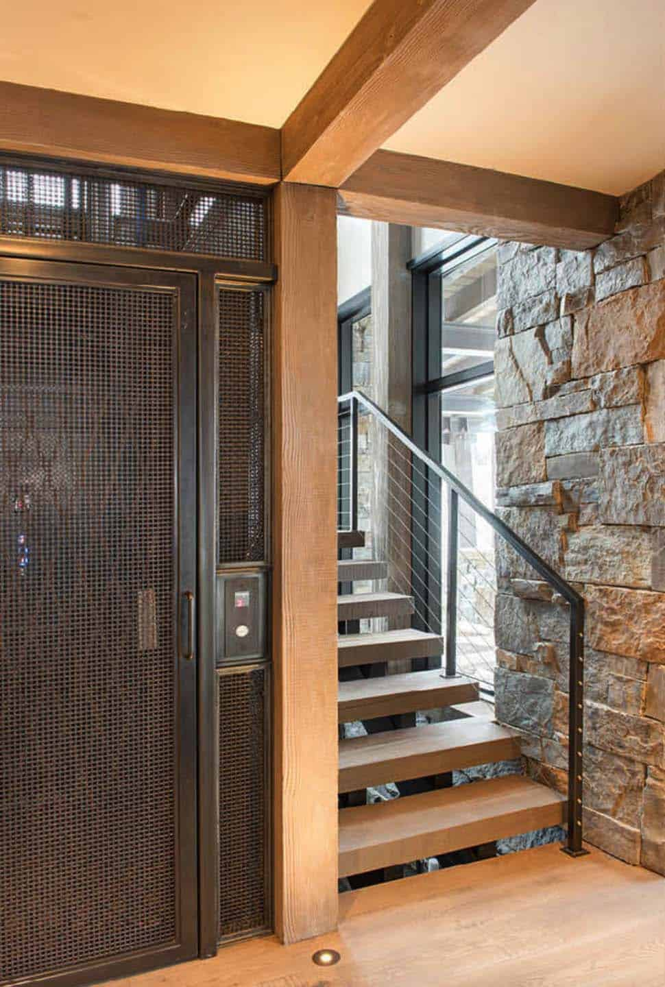 modern-rustic staircase