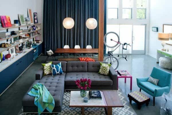 featured posts image for Eclectic industrial-modern loft  in Marina Del Rey with playful pops of color