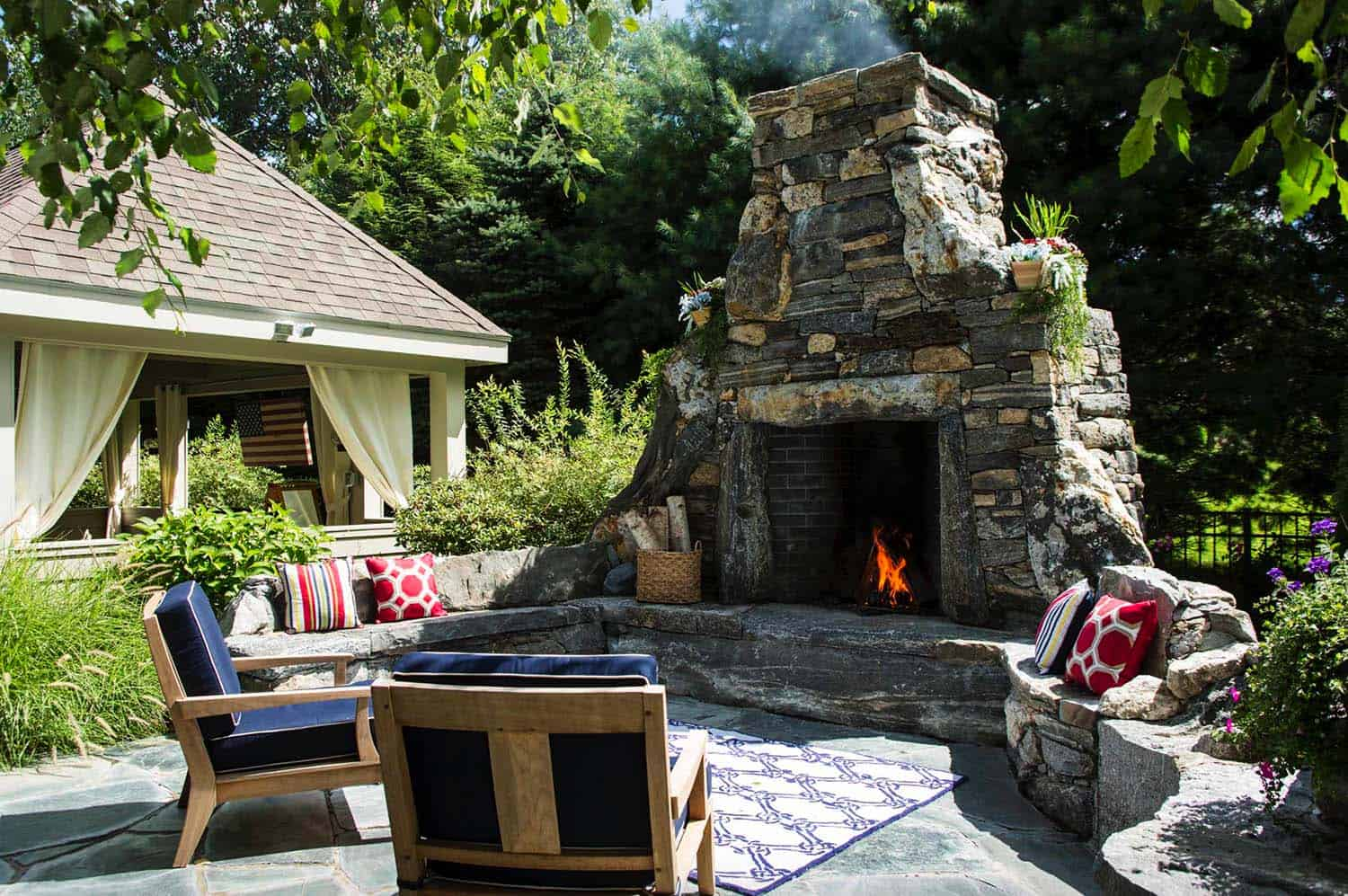 30+ Irresistible outdoor fireplace ideas that will leave ... on Brick Outdoor Fireplace Ideas id=44413