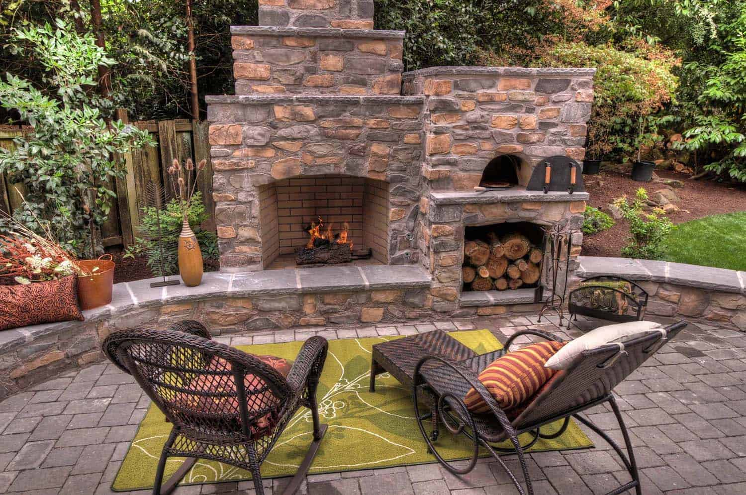 30+ Irresistible outdoor fireplace ideas that will leave ... on Small Outdoor Fireplace Ideas id=57954