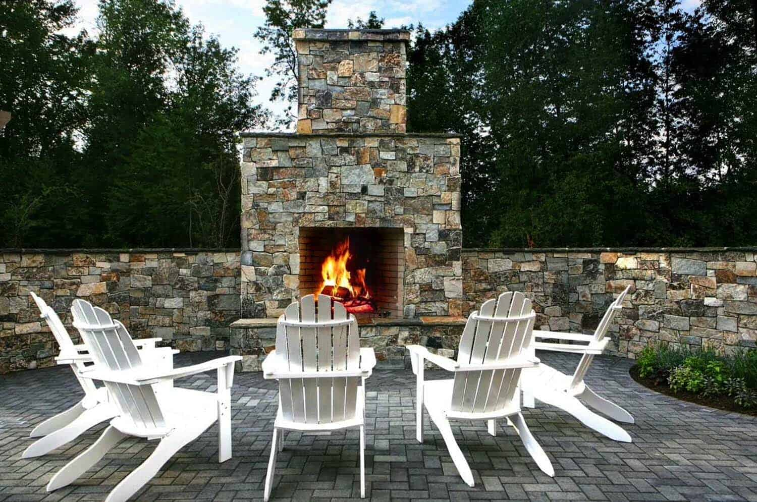 30+ Irresistible outdoor fireplace ideas that will leave ... on Backyard Chimney Fireplace id=36264
