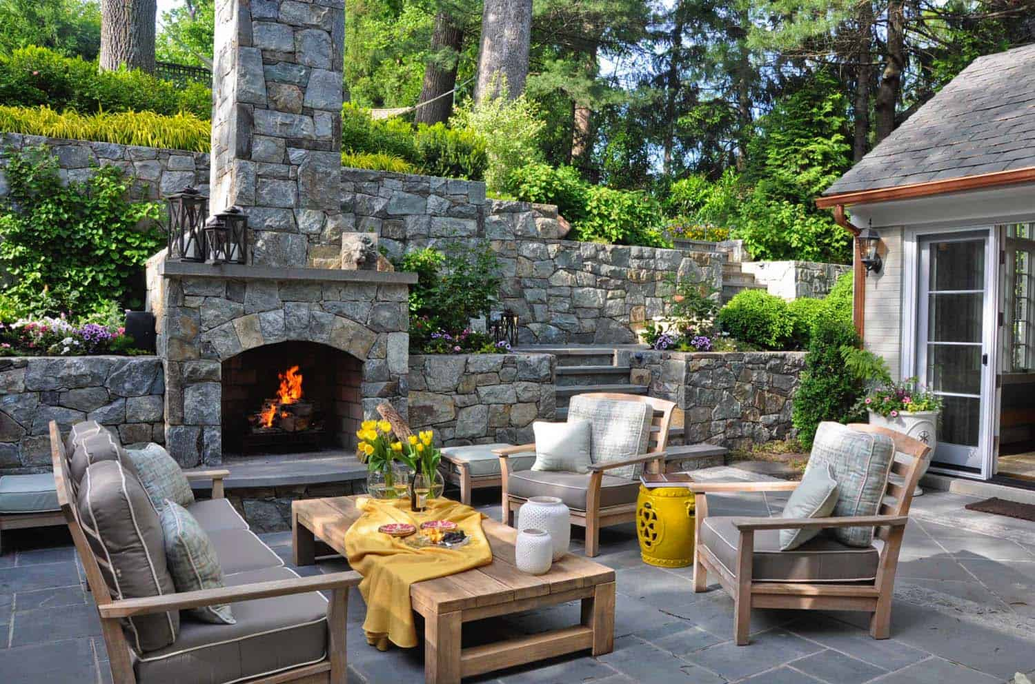 Peterdunham 30 Irresistible Outdoor Fireplace Ideas That Will Leave