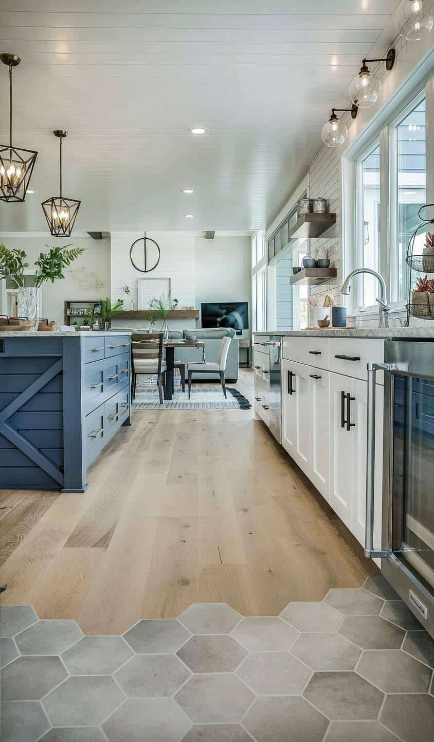 Modern Eclectic Farmhouse With Delightful Design Features In Michigan