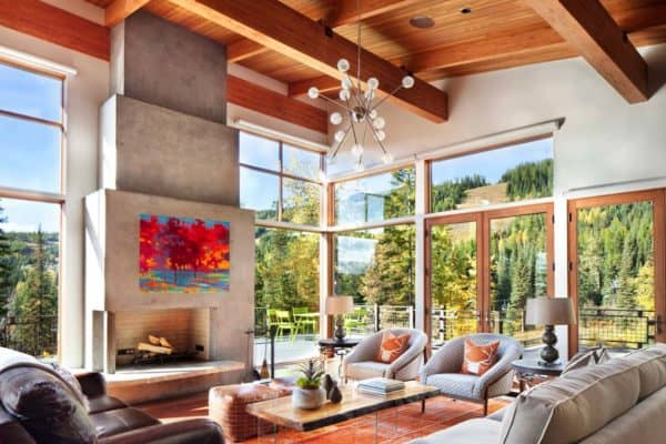 featured posts image for A mountain modern take on the classic ski-in/ski-out chalet in Montana