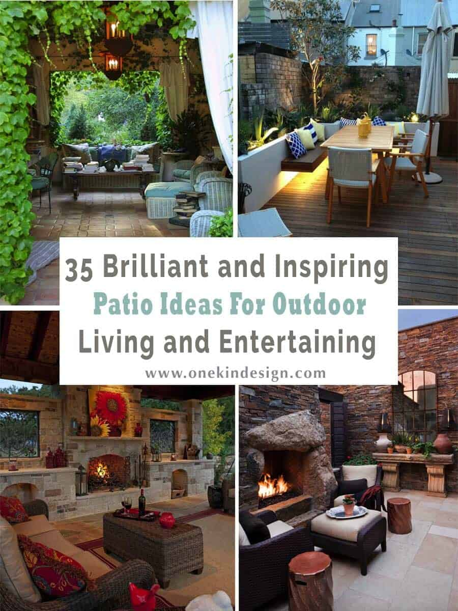35 Brilliant and inspiring patio ideas for outdoor living and ...