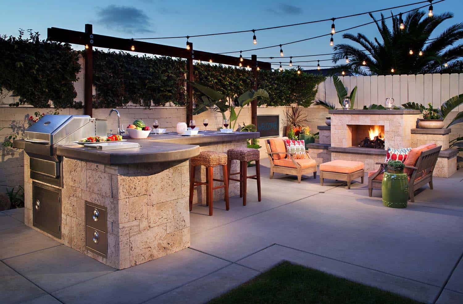 A Small Backyard In San Go California Offers Bbq Island With Grill Sink And Lots Of Counter E The Is Clad Stone Veneer Pearl