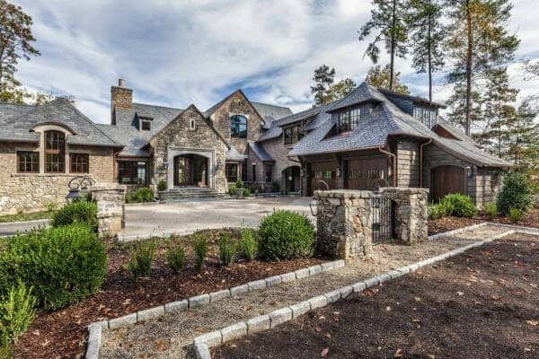 featured posts image for Gorgeous home with English manor-inspired details on Lake Keowee