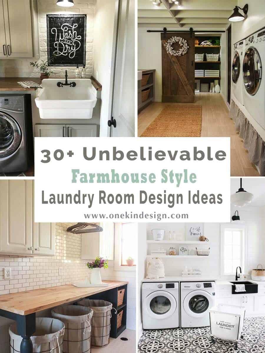 30 Unbelievable Farmhouse Style Laundry Room Design Ideas