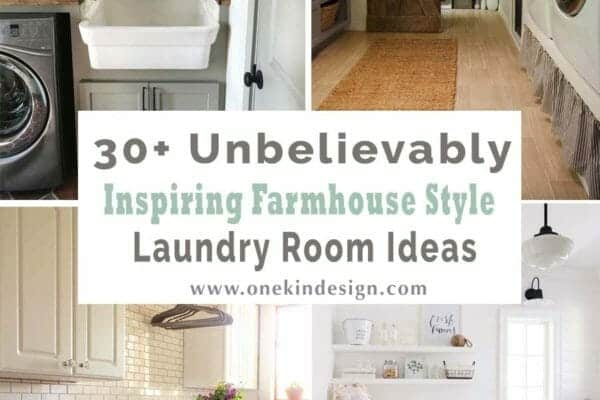 featured posts image for 30+ Unbelievably inspiring farmhouse style laundry room ideas