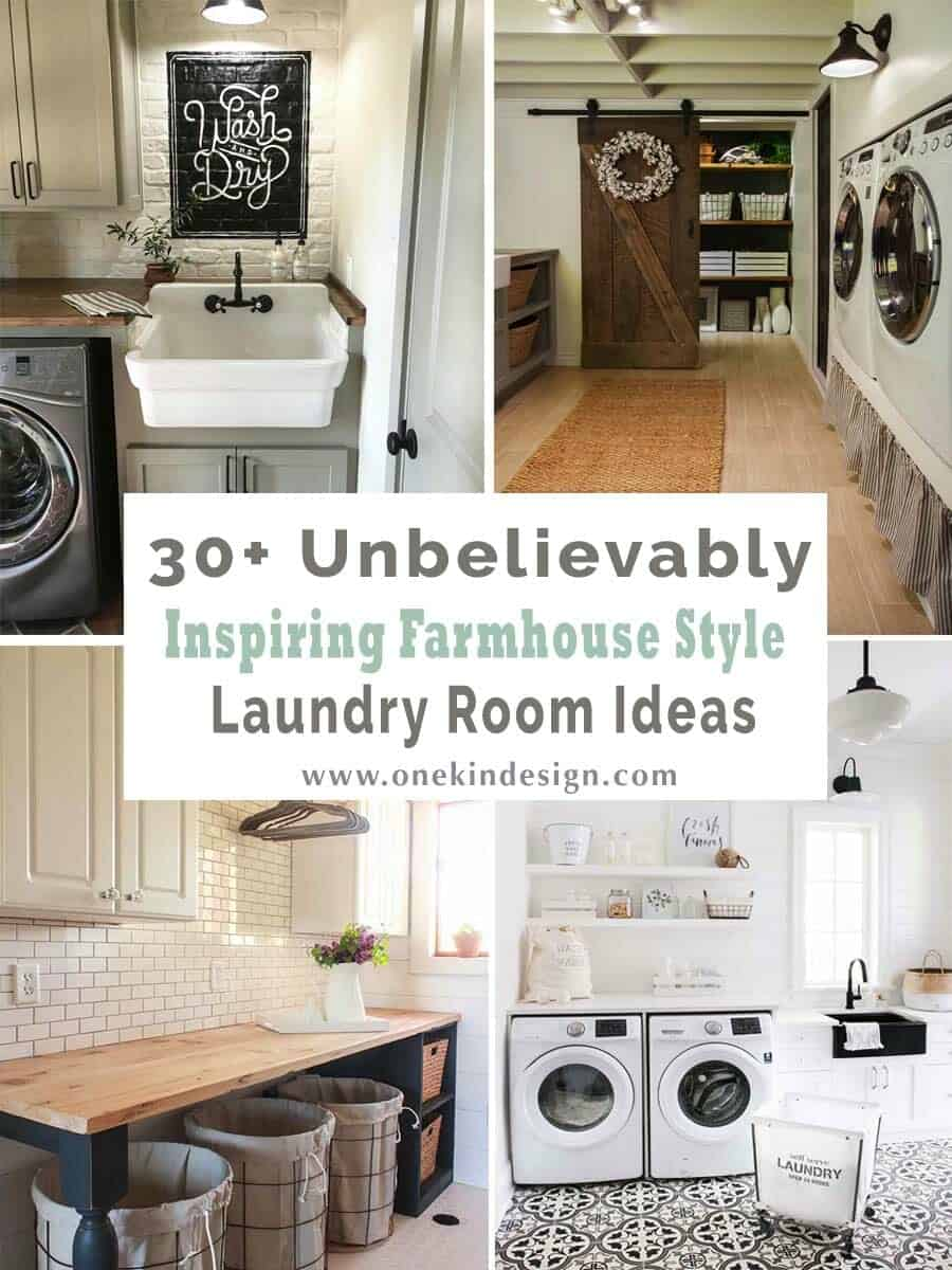 29+ Unbelievably inspiring farmhouse style laundry room ideas