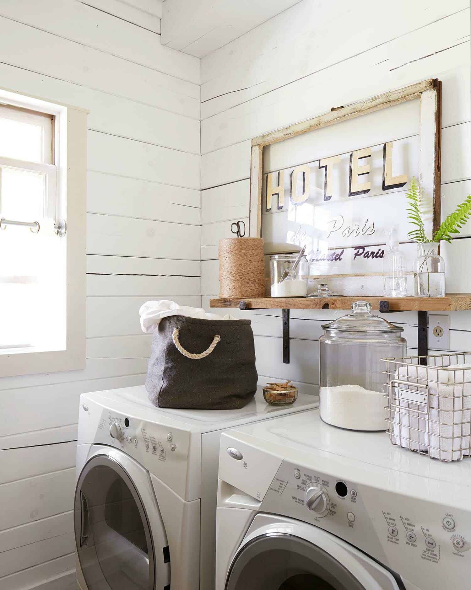 30 unbelievably inspiring farmhouse style laundry room ideas - Laundry room design ideas ...