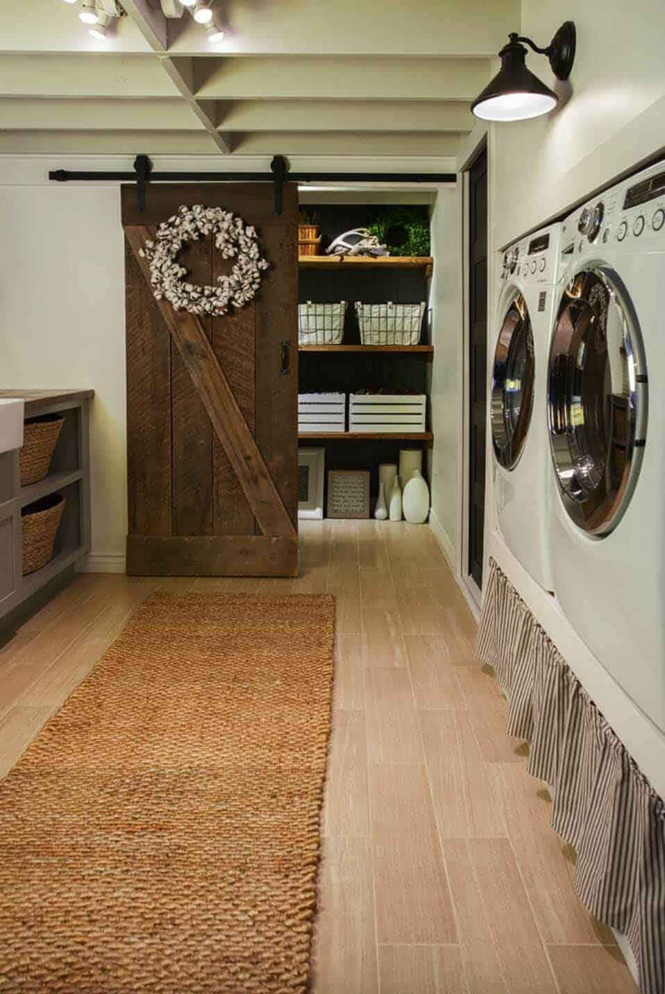30 Unbelievably Inspiring Farmhouse Style Laundry Room Ideas