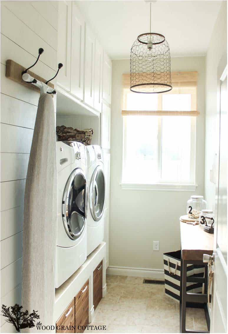 30 unbelievably inspiring farmhouse style laundry room ideas Home styles natural designer utility cart