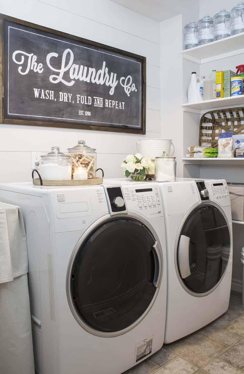 30+ Unbelievably inspiring farmhouse style laundry room ideas on Laundry Room Decor  id=13581