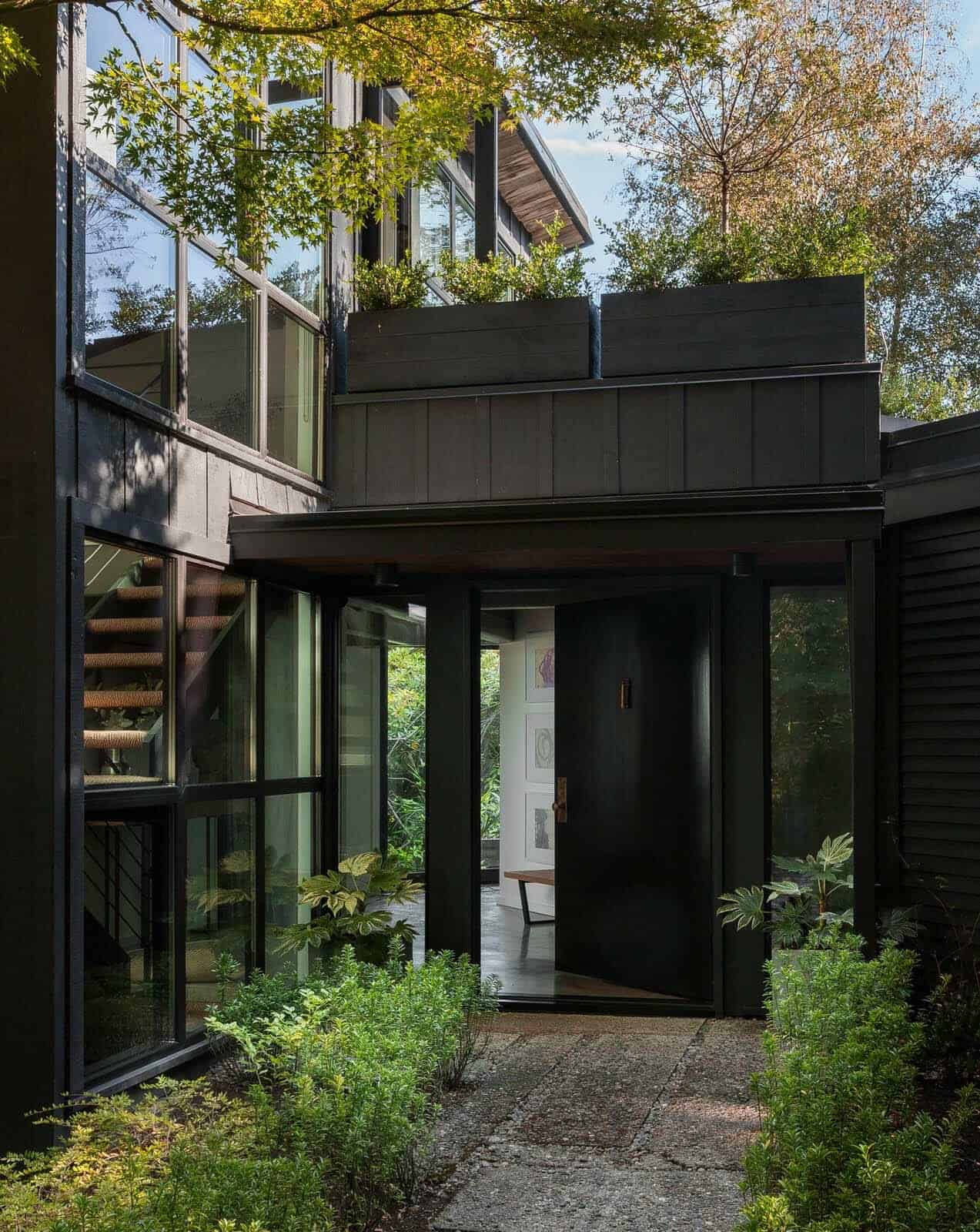 Chic Midcentury Modern Renovation Surrounded By Woods In Seattle Tree Diagram Woodsy Stuff Pinterest