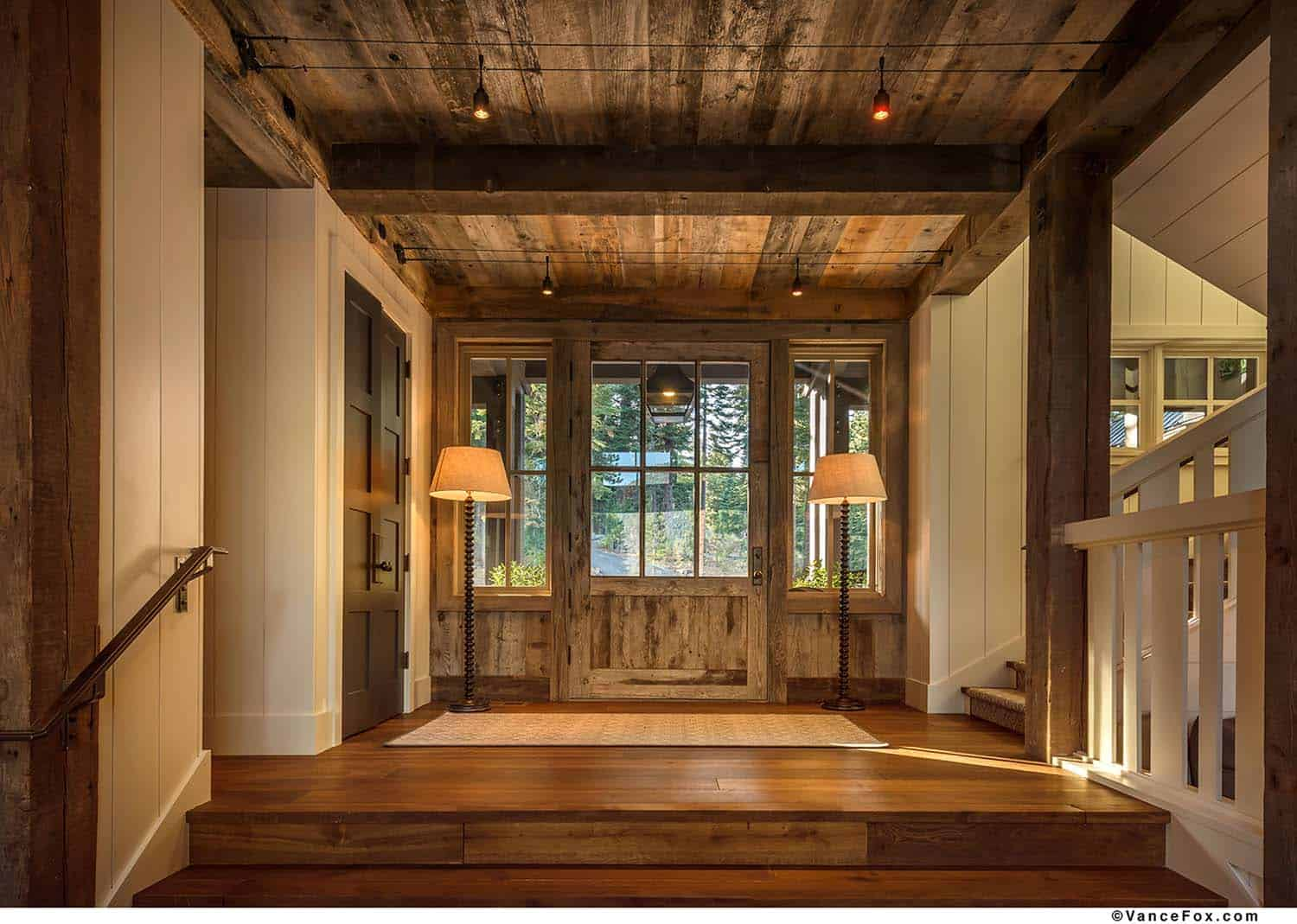 d03b7f04621 What We Love: There are a lot of beautiful details to admire in this warm  and cozy mountain style farmhouse. Enormous windows helps to highlight the  ...