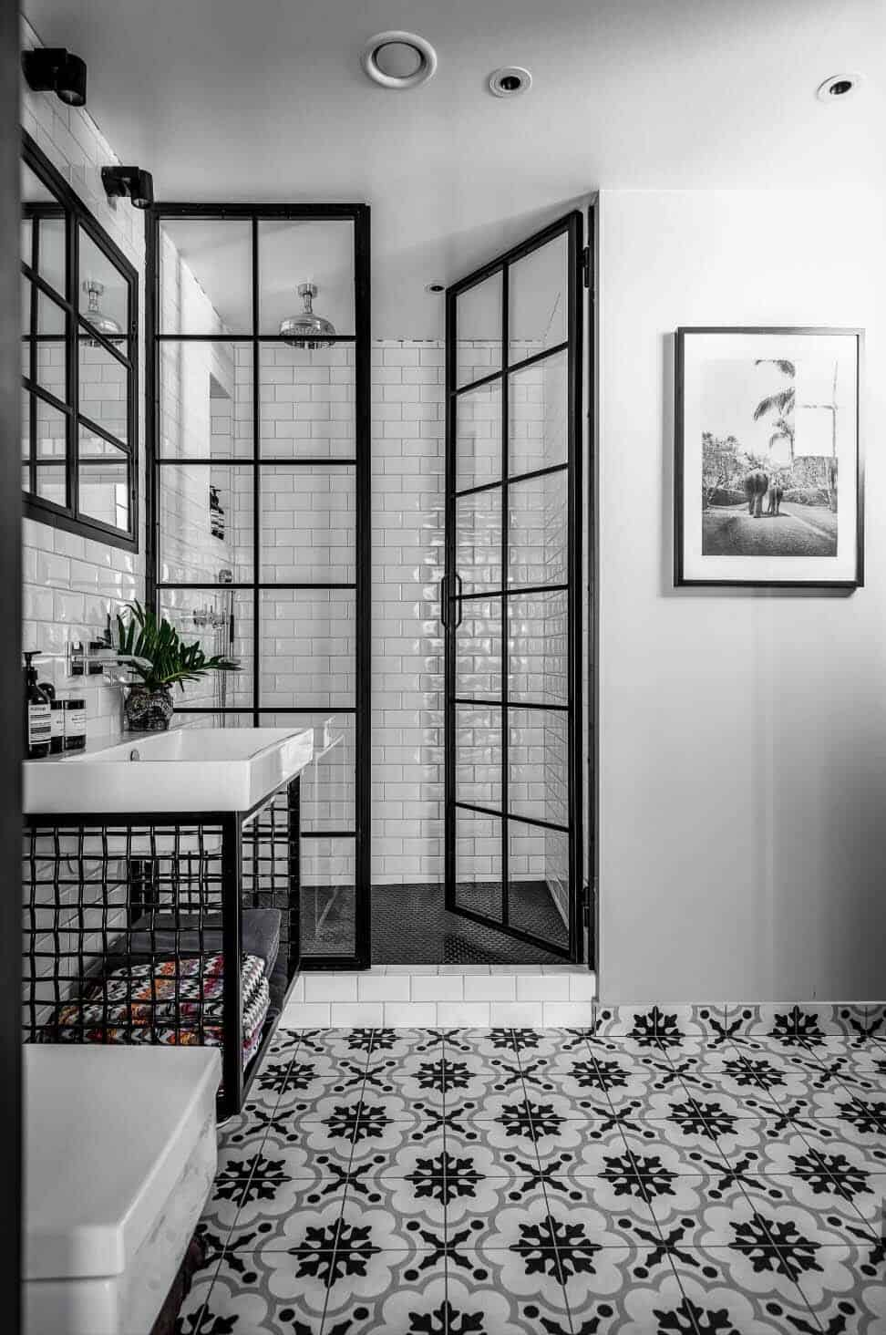 25 incredibly stylish black and white bathroom ideas to 24961