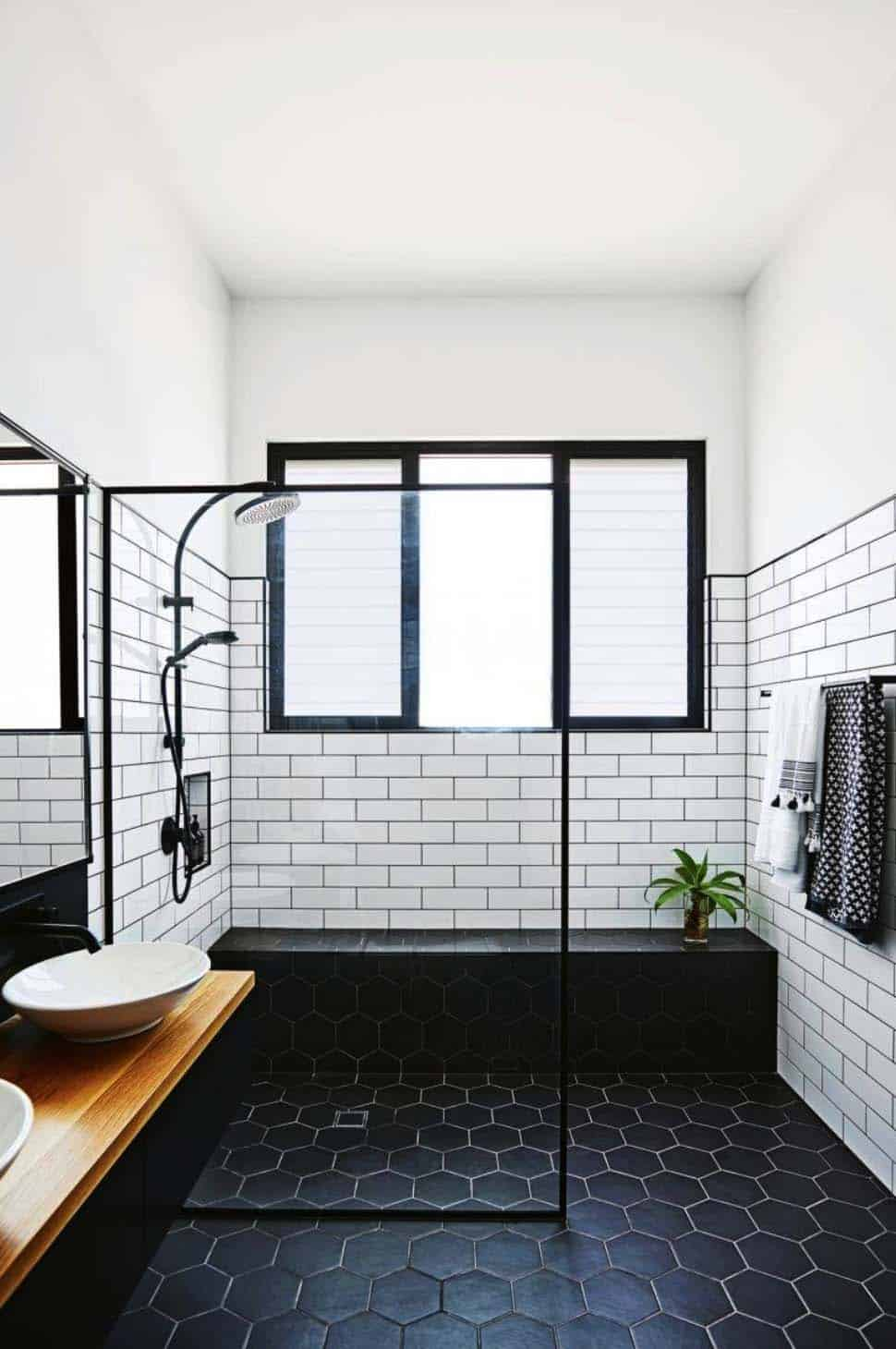 Marvelous Black White Bathroom