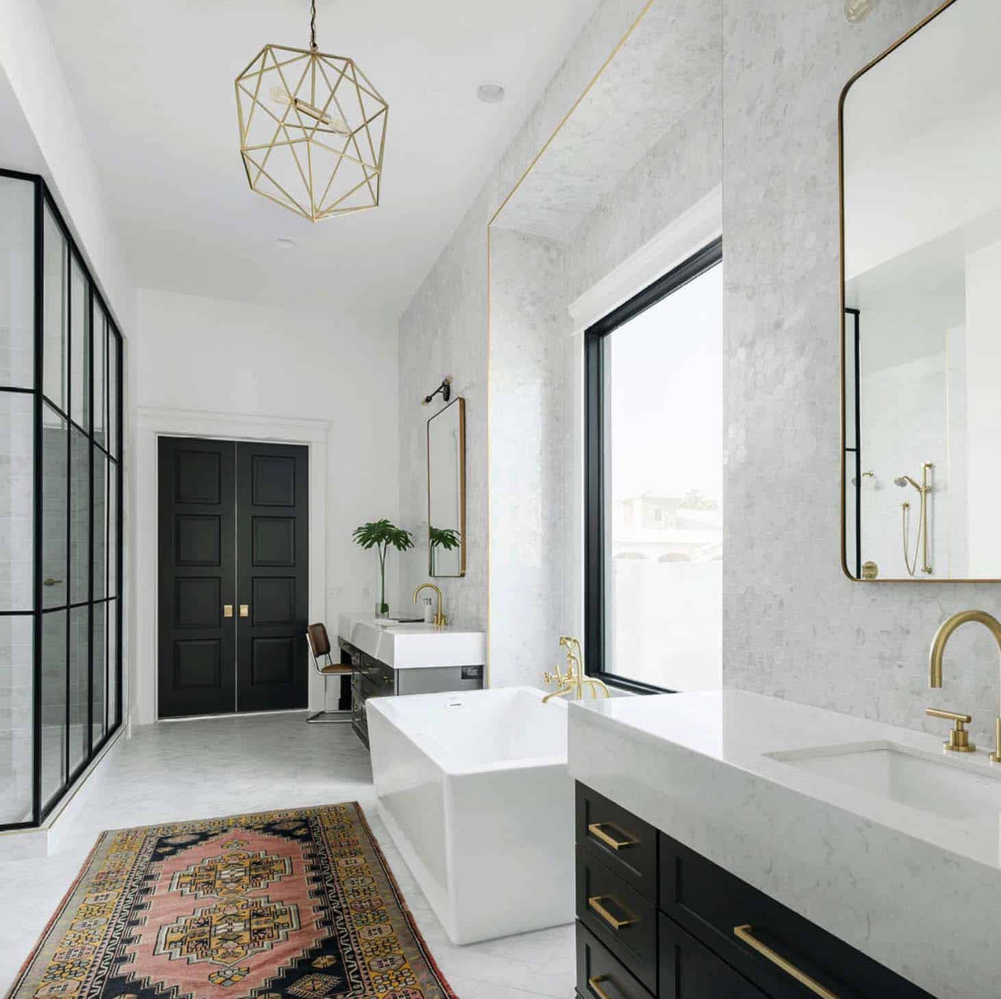 White Bathroom Decor Ideas Pictures Tips From Hgtv: 25+ Incredibly Stylish Black And White Bathroom Ideas To
