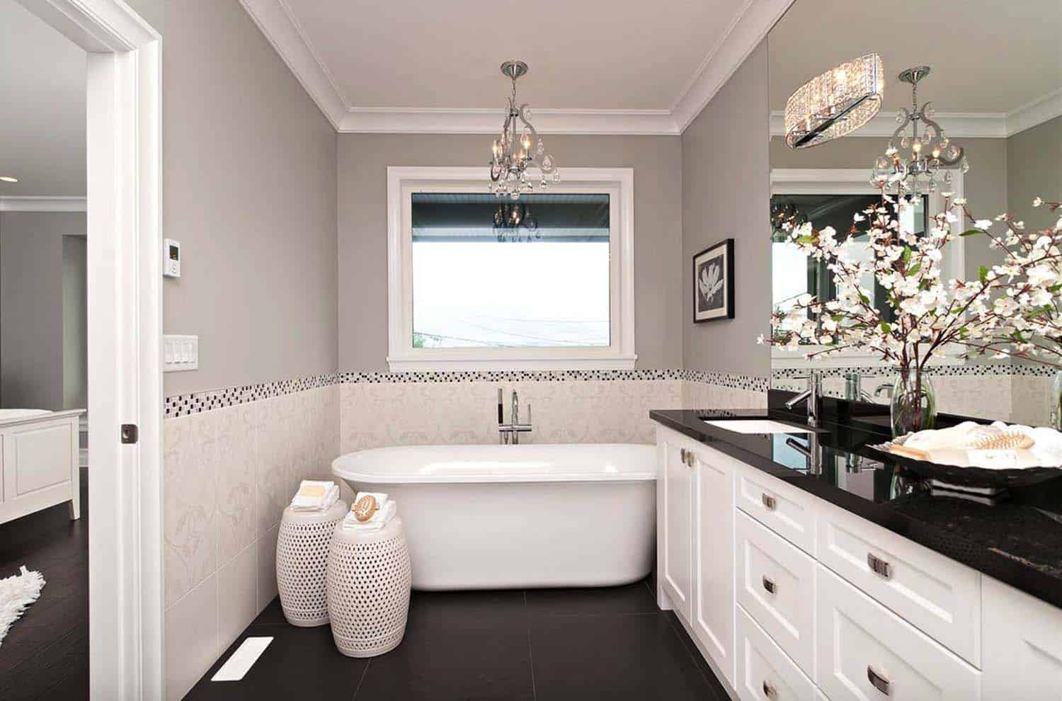 white bathroom design ideas 25 incredibly stylish black and white bathroom ideas to inspire 5224