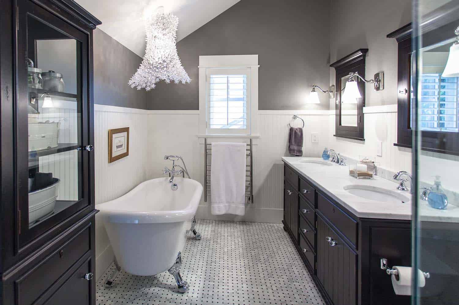 25 incredibly stylish black and white bathroom ideas to - White bathroom ideas photo gallery ...