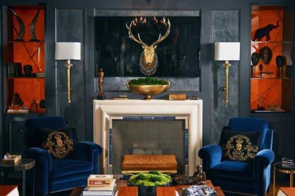featured posts image for 28 Gorgeous living rooms with black walls that create cozy drama