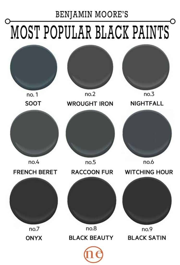 black-paint-palette