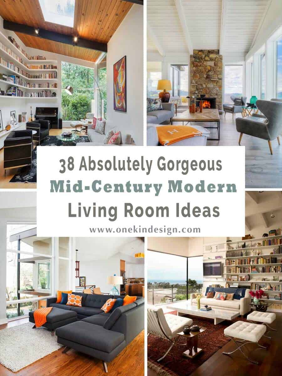 38 Absolutely Gorgeous Mid-century Modern Living Room Ideas