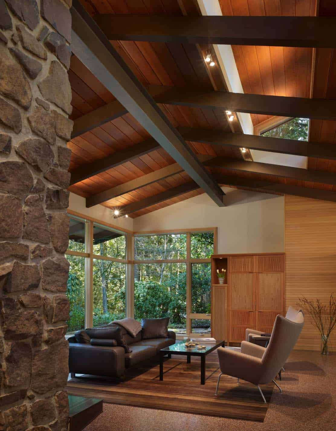 Home Interior Design with Wood