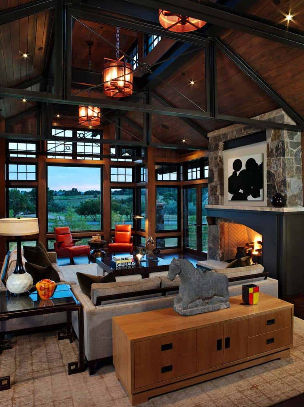 42 Ideas For Living Room Small Rustic Beams Livingroom: Rustic Colorado Mountain Home Offers Refined Contemporary