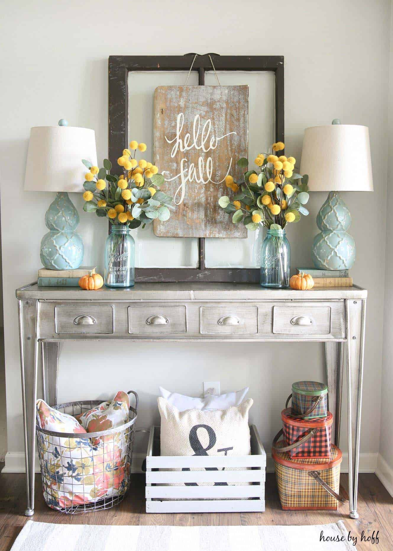 Merveilleux Console Table Fall Decor Ideas