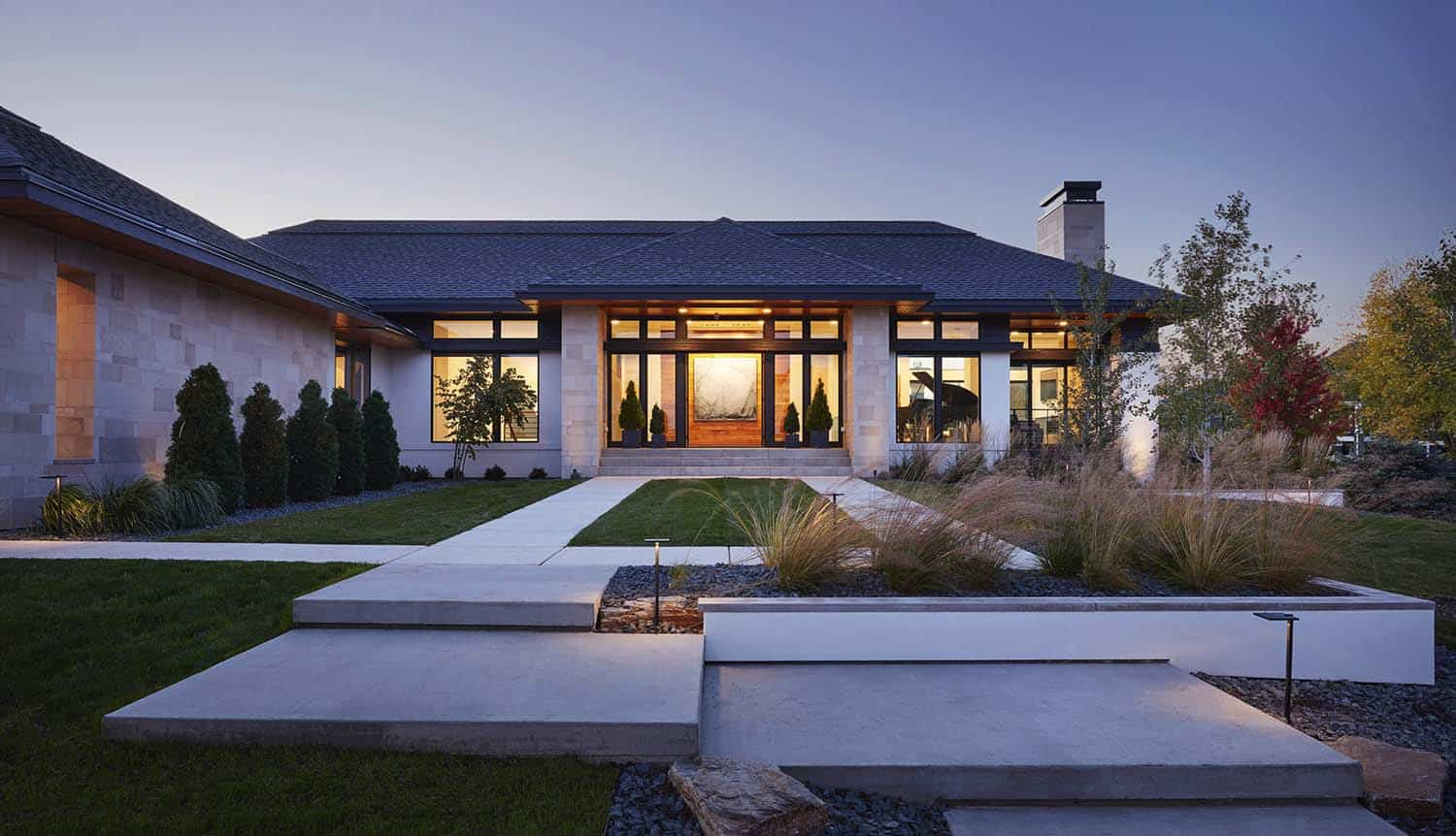 Modern home displays sophisticated interior styling in South Dakota