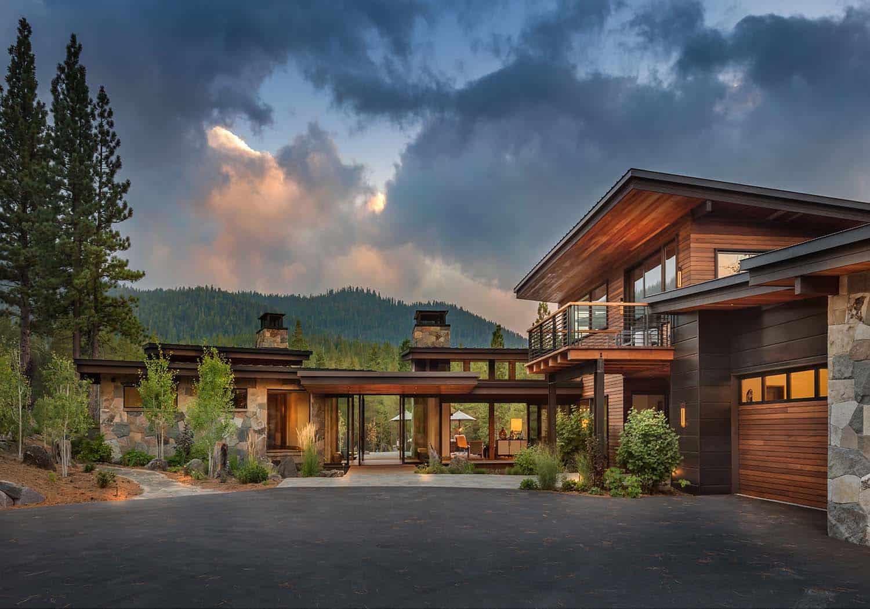 Modern home celebrates indoor-outdoor living in Sierra ... on Mountain Backyard Ideas id=34752