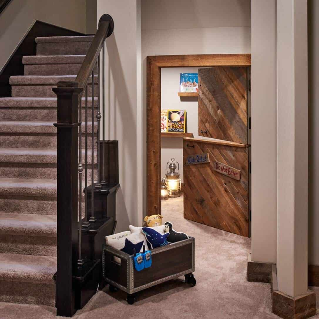 transitional-basement-kids-playroom