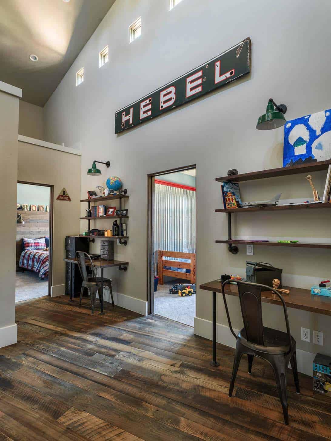 rustic-home-kids-bedrooms