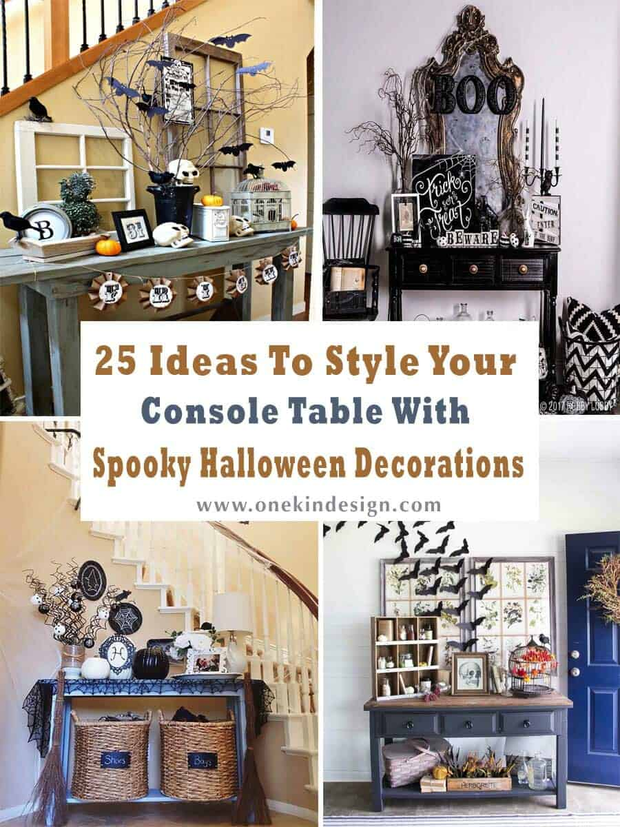 25 Ideas To Style Your Console Table With Spooky