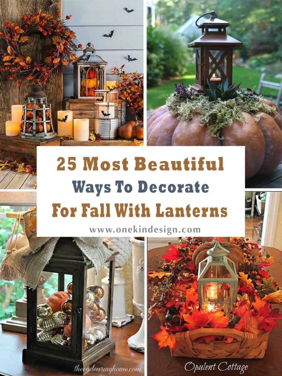 Decorate For Fall With Lanterns