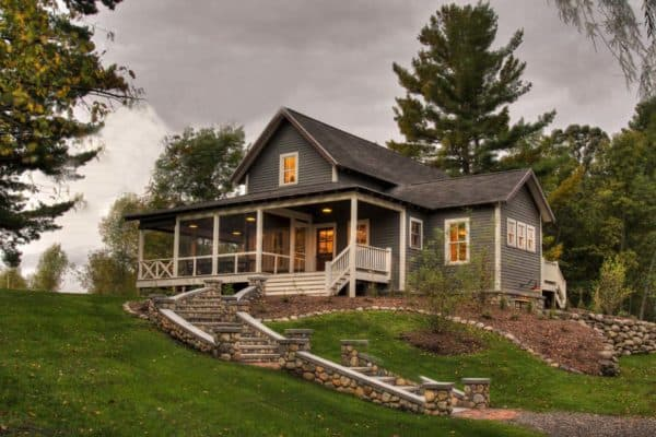 featured posts image for Charming farmhouse and entertainment barn nestled lakeside in Minnesota