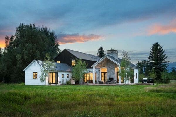 featured posts image for Modern farmhouse-inspired home with dramatic views of the Grand Tetons